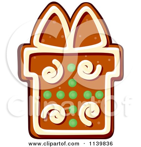 450x470 Clipart Of A Gift Gingerbread Christmas Cookie 1