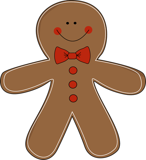 500x550 Gingerbread Man Wearing A Bow Tie Clip Art Gingerbread Party