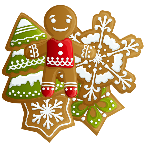 596x600 Transparent Christmas Gingerbread And Cookies Png Clipart Vector