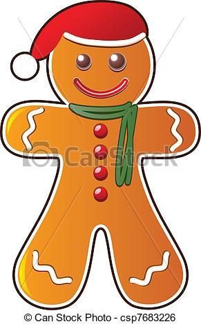 291x470 Vector Gingerbread Cookie Clip Art Vector