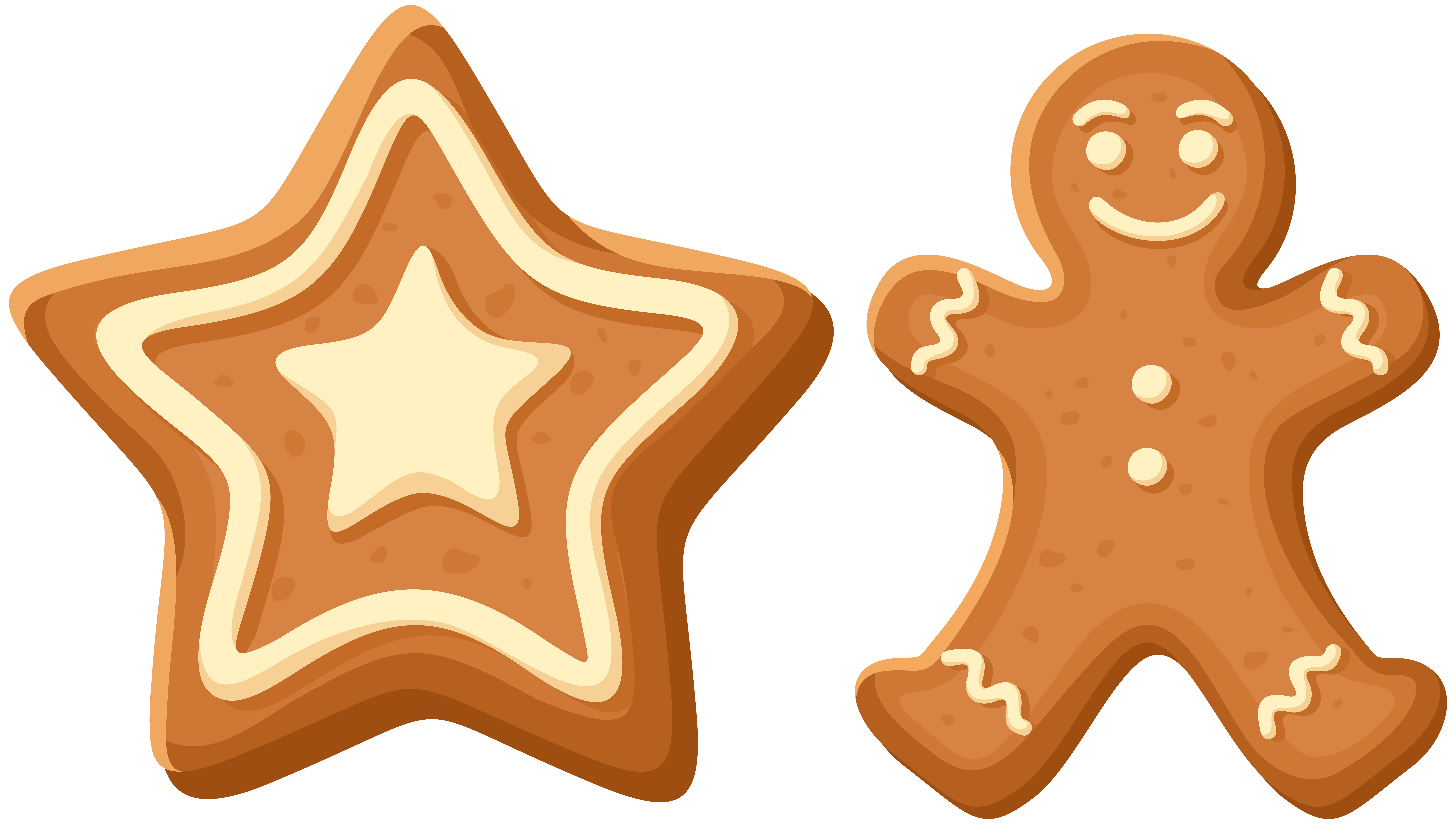 8000x4530 Christmas Gingerbread Cookies PNG Clip Art