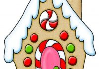 200x140 Gingerbread House Window Clipart