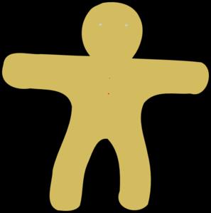 297x299 Gingerbread Man Clip Art