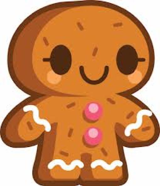 510x596 Gingerbread Person Clip Art