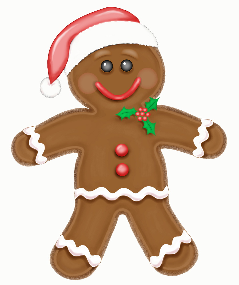 837x999 Funny Gingerbread Man Clipart