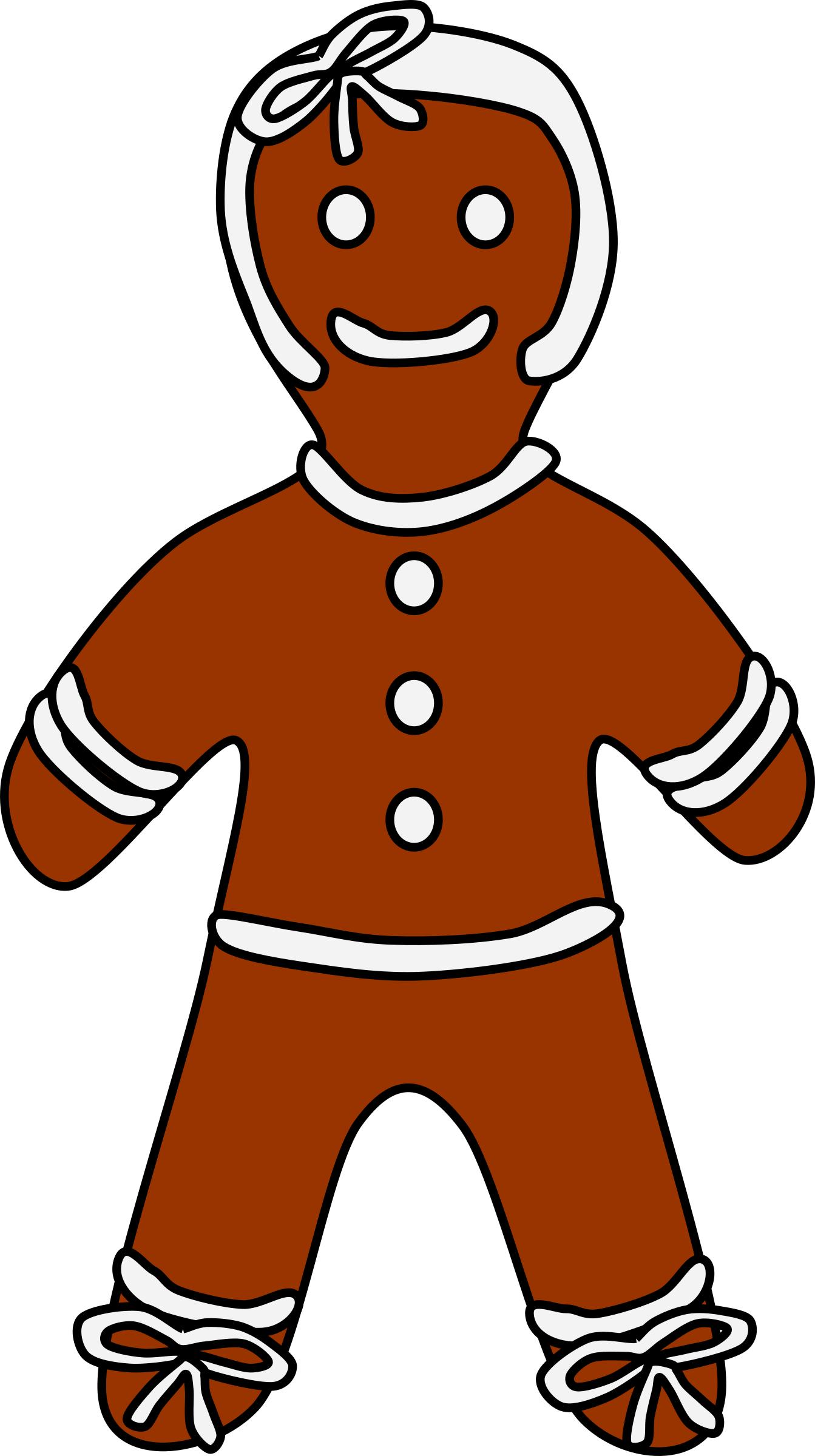 1343x2400 Gingerbread Girl Icons Png