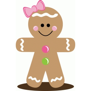 300x300 Gingerbread Man Silhouette Group