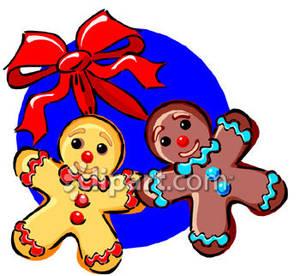 300x276 Gingerbread Man Clip Art Black White Clipart Panda