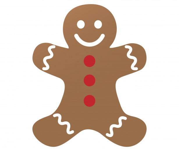 615x520 Gingerbread Man Clipart Free Stock Photo