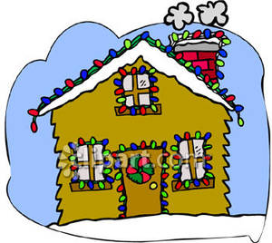 300x268 Collection Of Decorated Christmas House Clipart High Quality