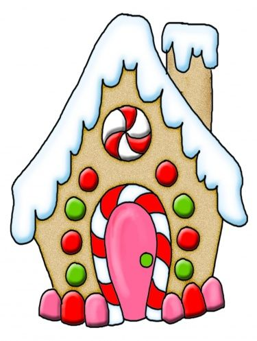 375x497 Gingerbread House Clipart Gingerbread House Digital Download