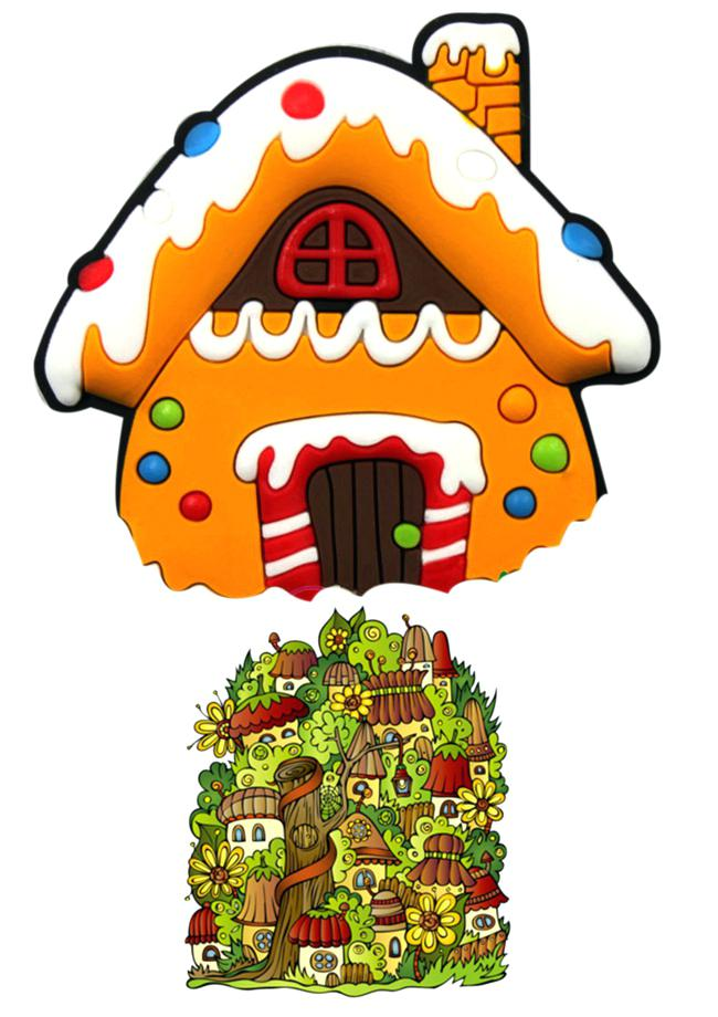 650x920 Christmas House Clip Art House Shaped Gift Boxes Christmas Candy
