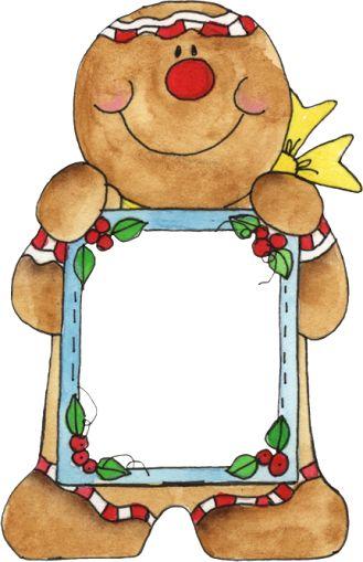 329x509 Christmas Gingerbread Frame, Clip Art Clip Art