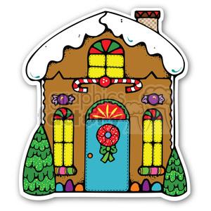 Gingerbread Man House Clipart