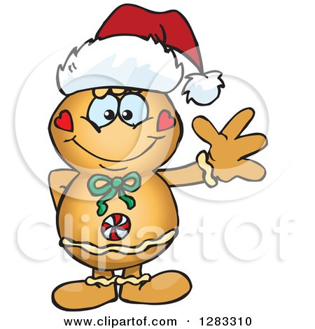 450x470 Clipart Of A Happy Gingerbread Man Giving A Thumb Up