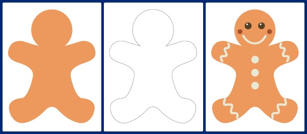 600x262 Cookie Clipart Gingerbread Man Story