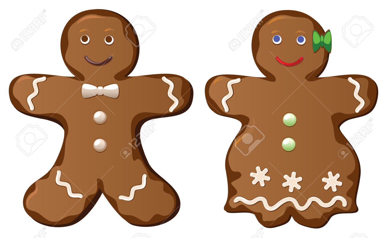 1300x804 Gingerbread Clipart Men And Woman