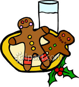 272x300 Gingerbread Clipart Plate Christmas Cookie