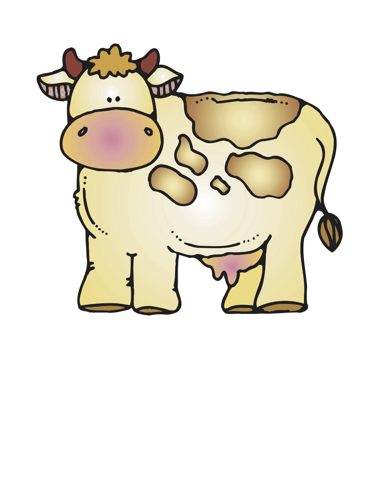 1275x1650 Man Cow Cliparts