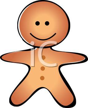 285x350 Gingerbread Man Clipart Sad
