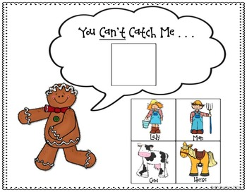 350x272 Catch Me If You Can! A Gingerbread Man Story Companion Tpt