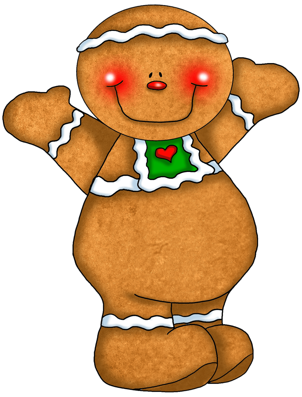 975x1280 Cute Gingerbread Cliparts