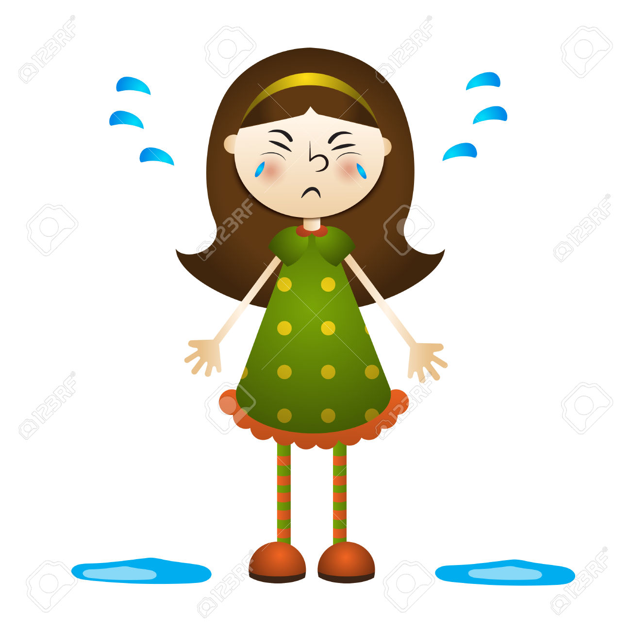 1300x1300 Ginger Girl Crying Clipart