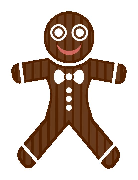 555x722 Gingerbread Man Clip Art