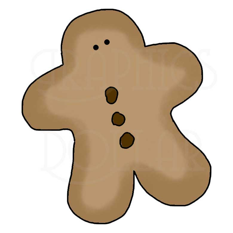 780x780 Gingerbread Clipart Love