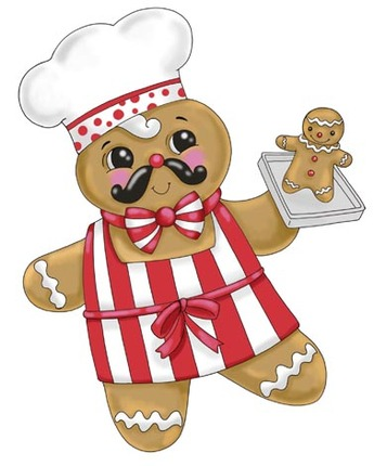 345x430 Christmas Chef Clipart