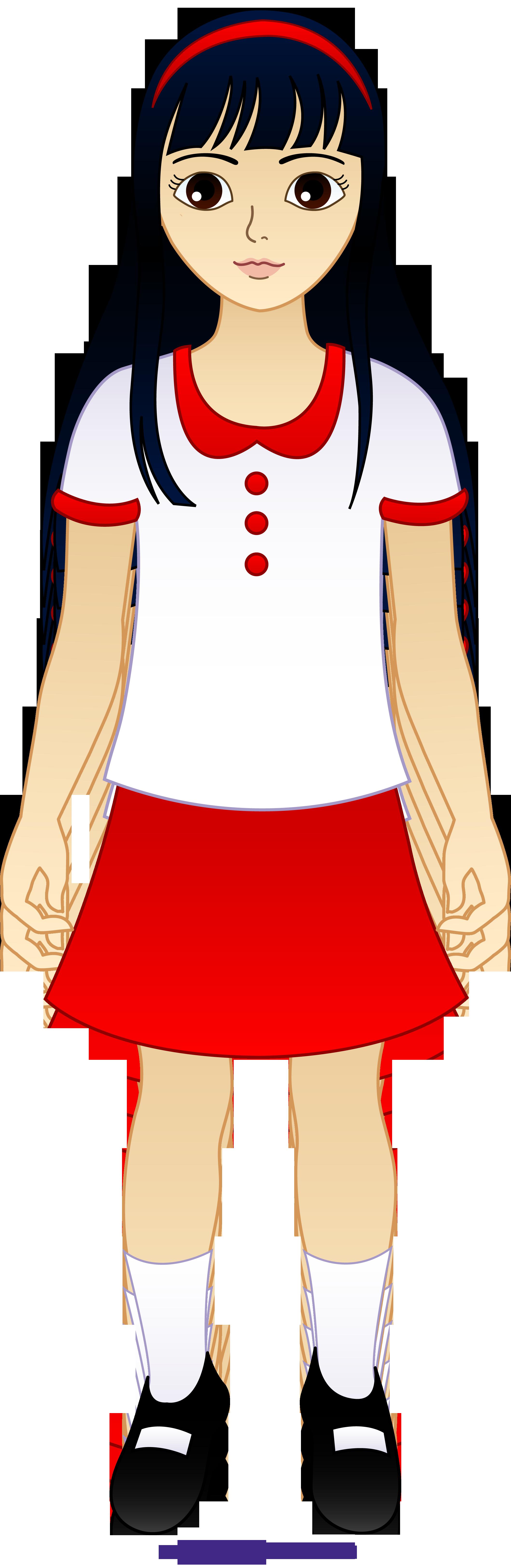 2119x6498 Little Asian Girl Clipart