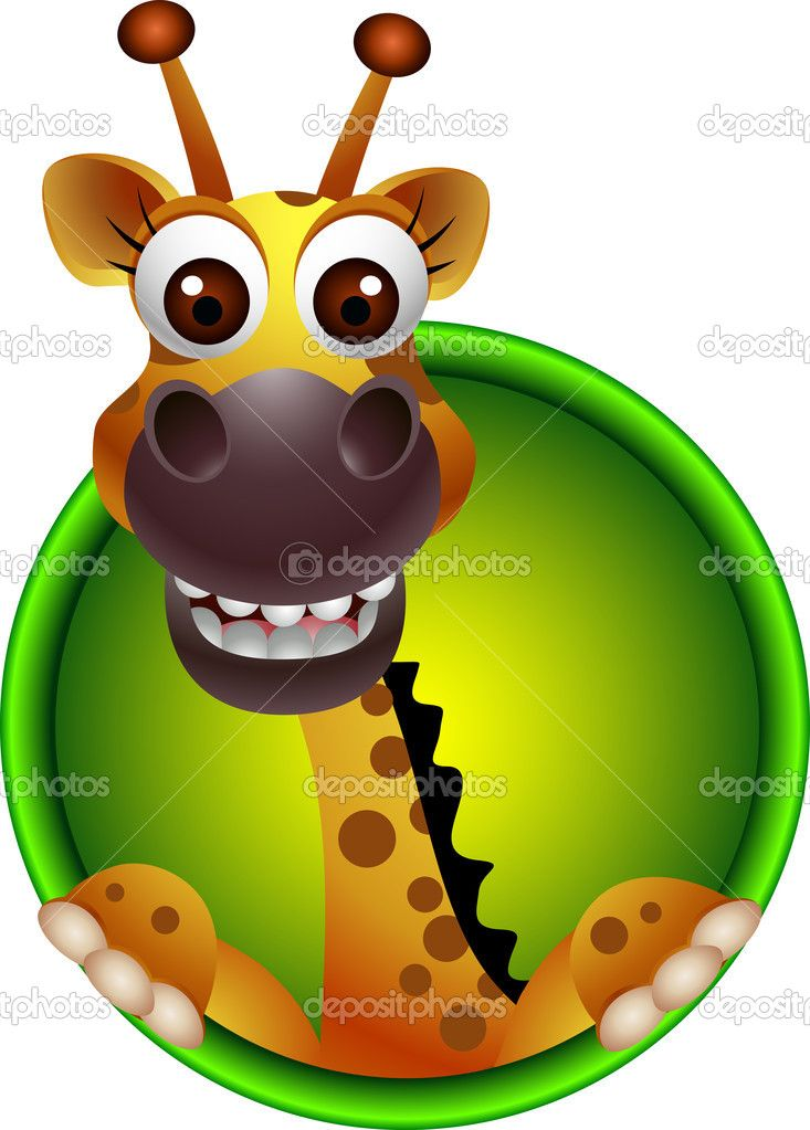 733x1023 Cartoon Giraffe Head Cute Giraffe Head Cartoon Stock Vector