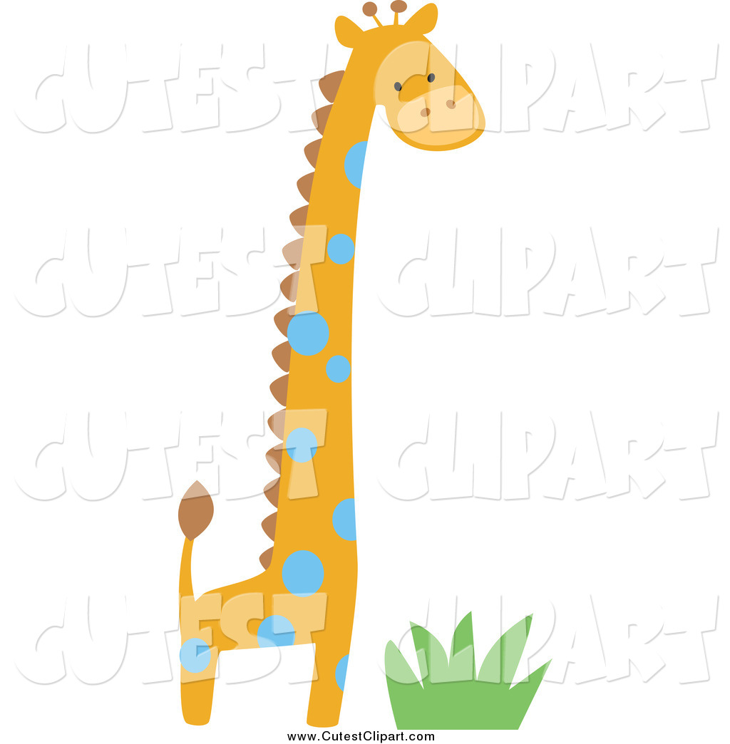 1024x1044 Cartoon Vector Clip Art Of A Cute Giraffe Over Grass By