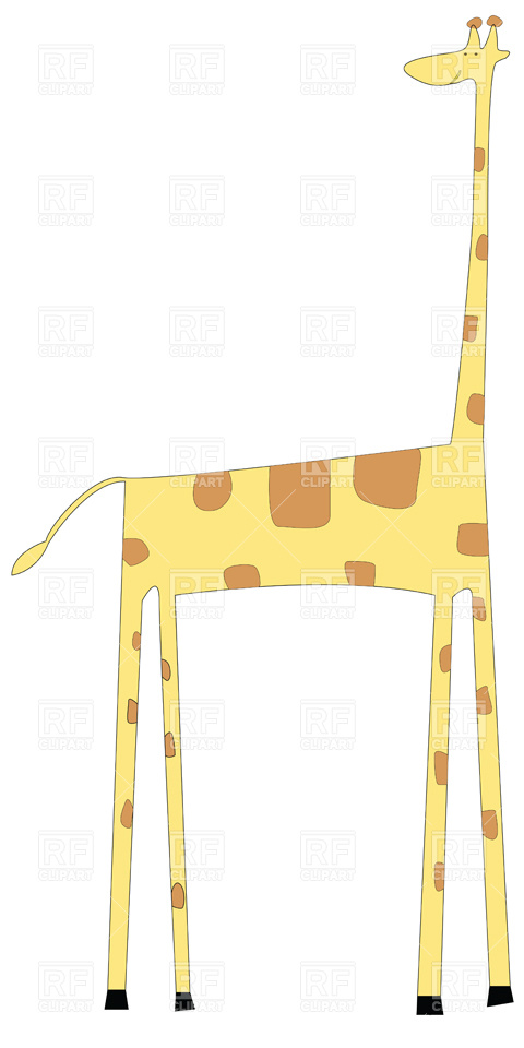 480x960 Funny Cartoon Giraffe Royalty Free Vector Clip Art Image