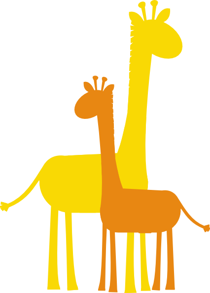 426x594 Darker Orange Giraffe Clip Art