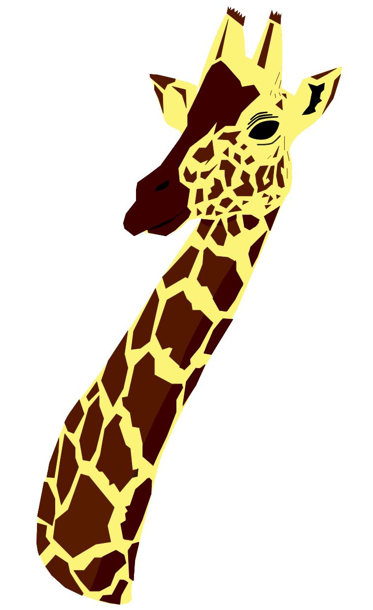 757x1238 Giraffe Clip Art Clipart Panda