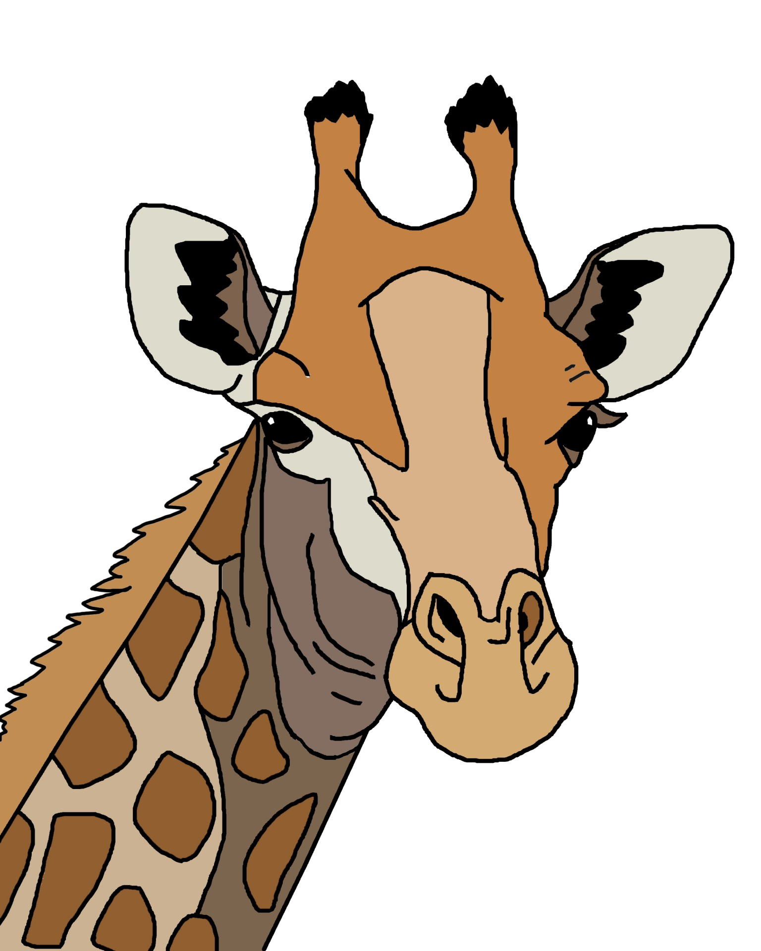 1536x1920 Outline Giraffe Cliparts