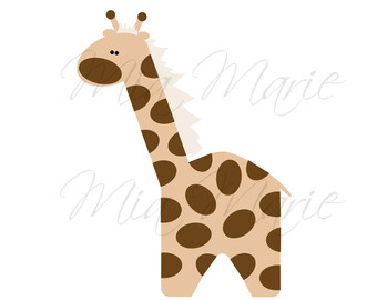 340x270 Watercolor Giraffes Zoo Animals Watercolor Giraffe Clip Art
