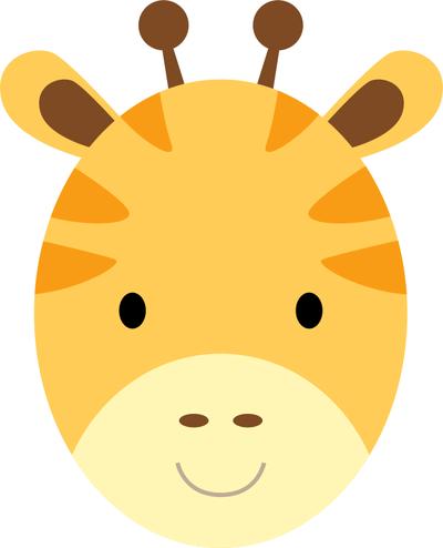 400x494 Coolest Giraffe Face Cartoon
