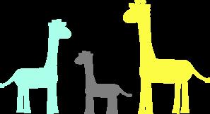 297x162 Baby Giraffe Family Clip Art