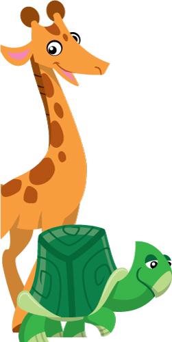 251x500 Door Frame Giraffe Amp Turtle Creative For Kids
