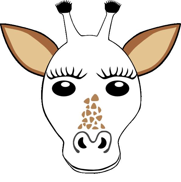 594x598 Giraffe Clipart Template