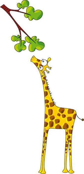 340x700 Sticker Decorativo Infantil A Girafa Clipart Box Animals