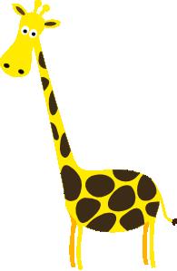 195x299 Cartoon Giraffe Clip Art