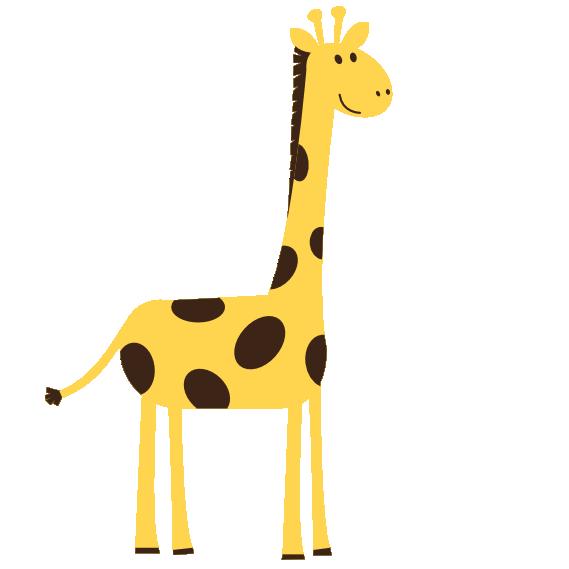 569x569 Giraffe Clipart Black And White Clipart Panda