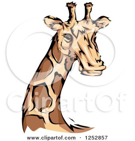 450x470 Clipart Of A Majestic Giraffe