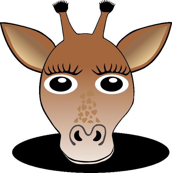 594x598 Giraffe Face Clip Art