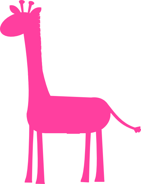 456x598 Baby And Mommy Giraffe Clipart Outline