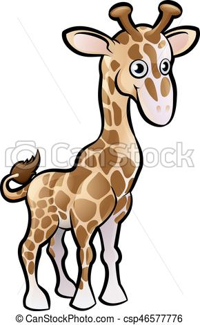 290x470 A Giraffe Safari Animals Cartoon Character Vectors Illustration