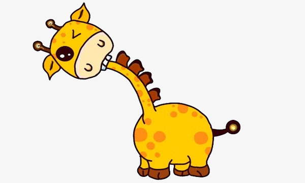 600x360 Cartoon Giraffe Head Tilt Kill, Head Tilt, Lovely, Giraffe Png